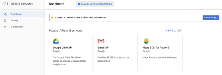 API key configuration for Google Maps mapping solution